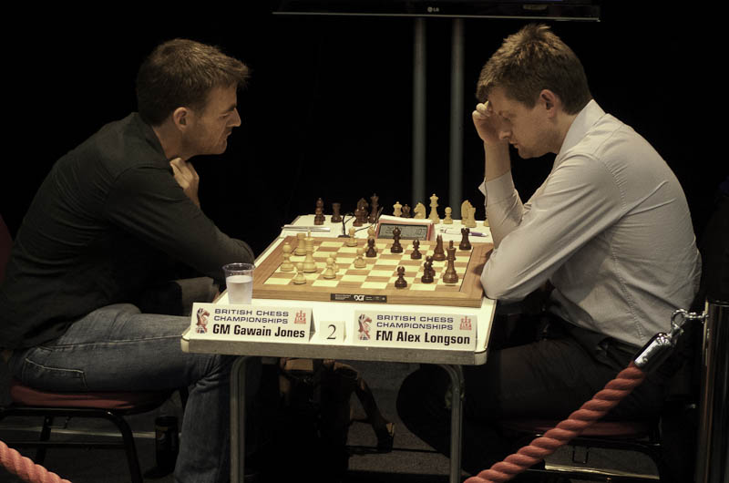 Photo: GM Gawain Jones v FM Alex Longson