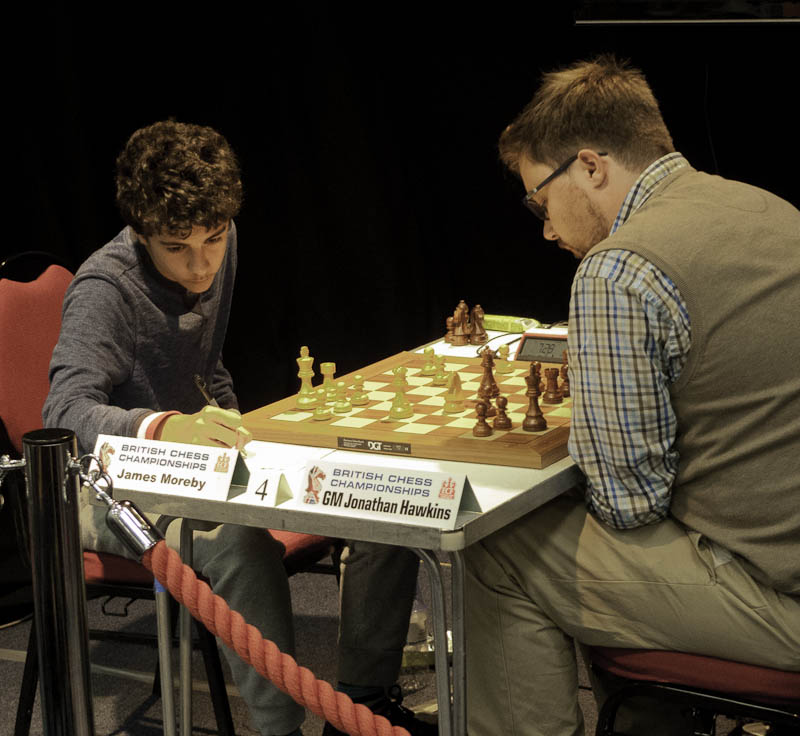 Photo: James Moreby v GM Jonathan Hawkins